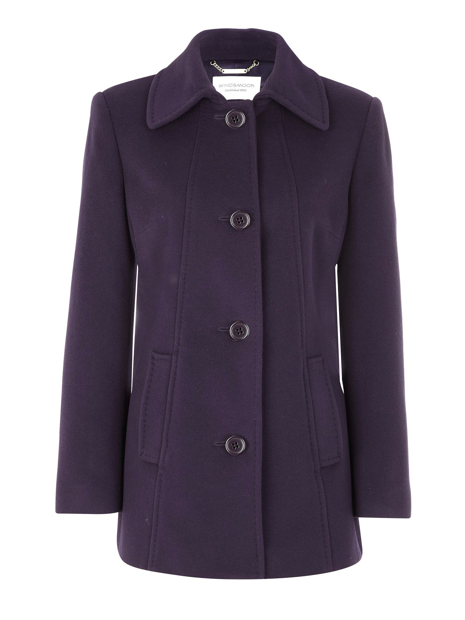 Blackcurrant car coat