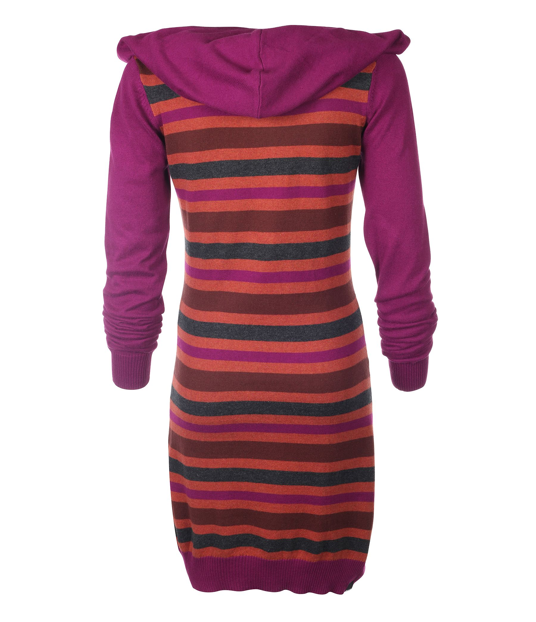 Girl`s guernsey hooded knit dress