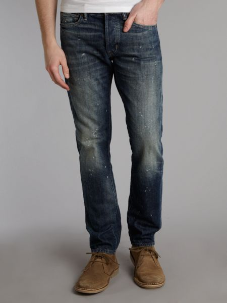 Denim and Supply Ralph Lauren Slim fit crinkle washed jeans