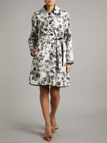Max Mara Elodia reversible trench coat with floral lining