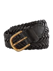 Wolsey Made in GB hand plaited leather belt in gift box