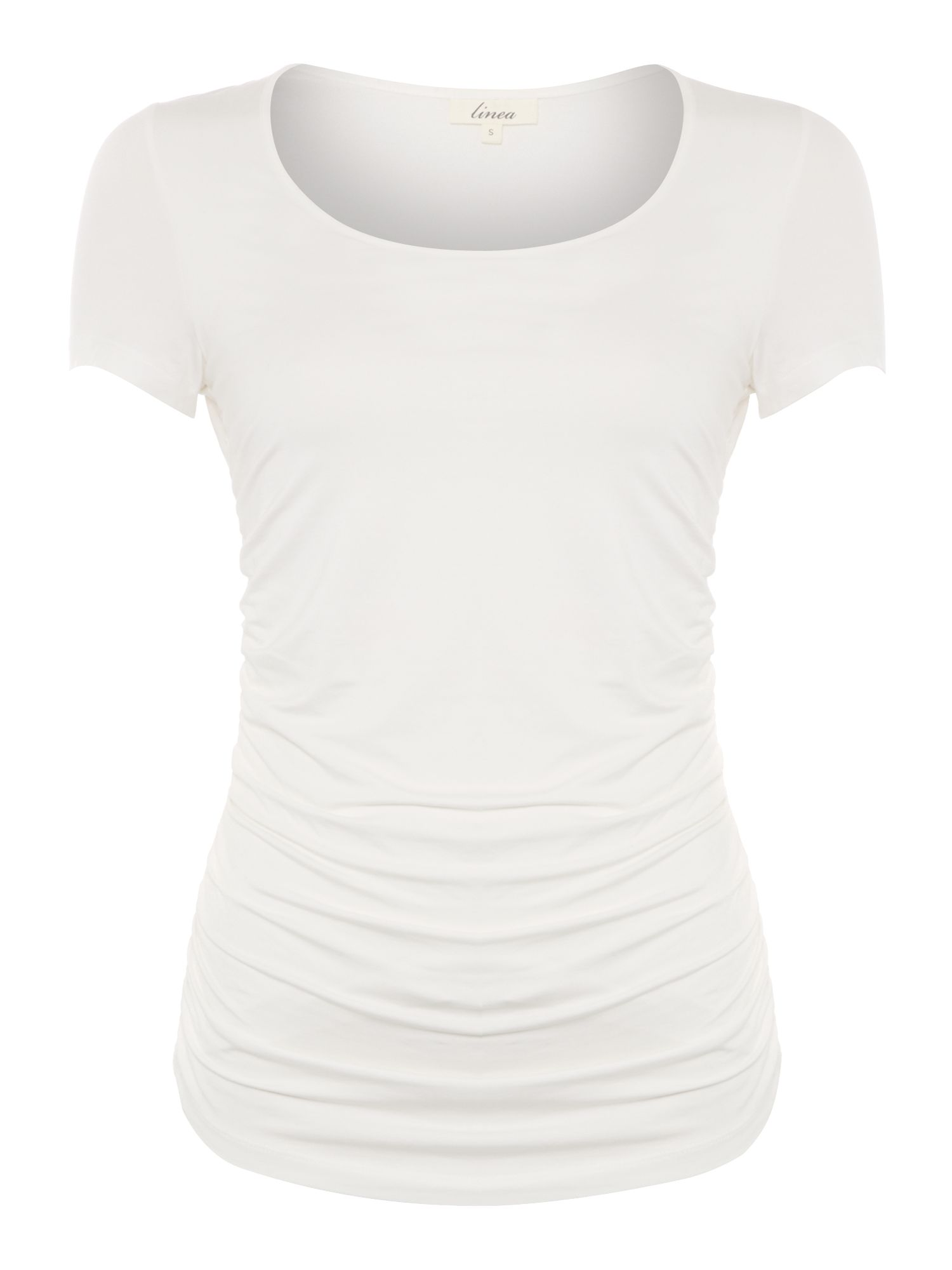S/S Side ruched top