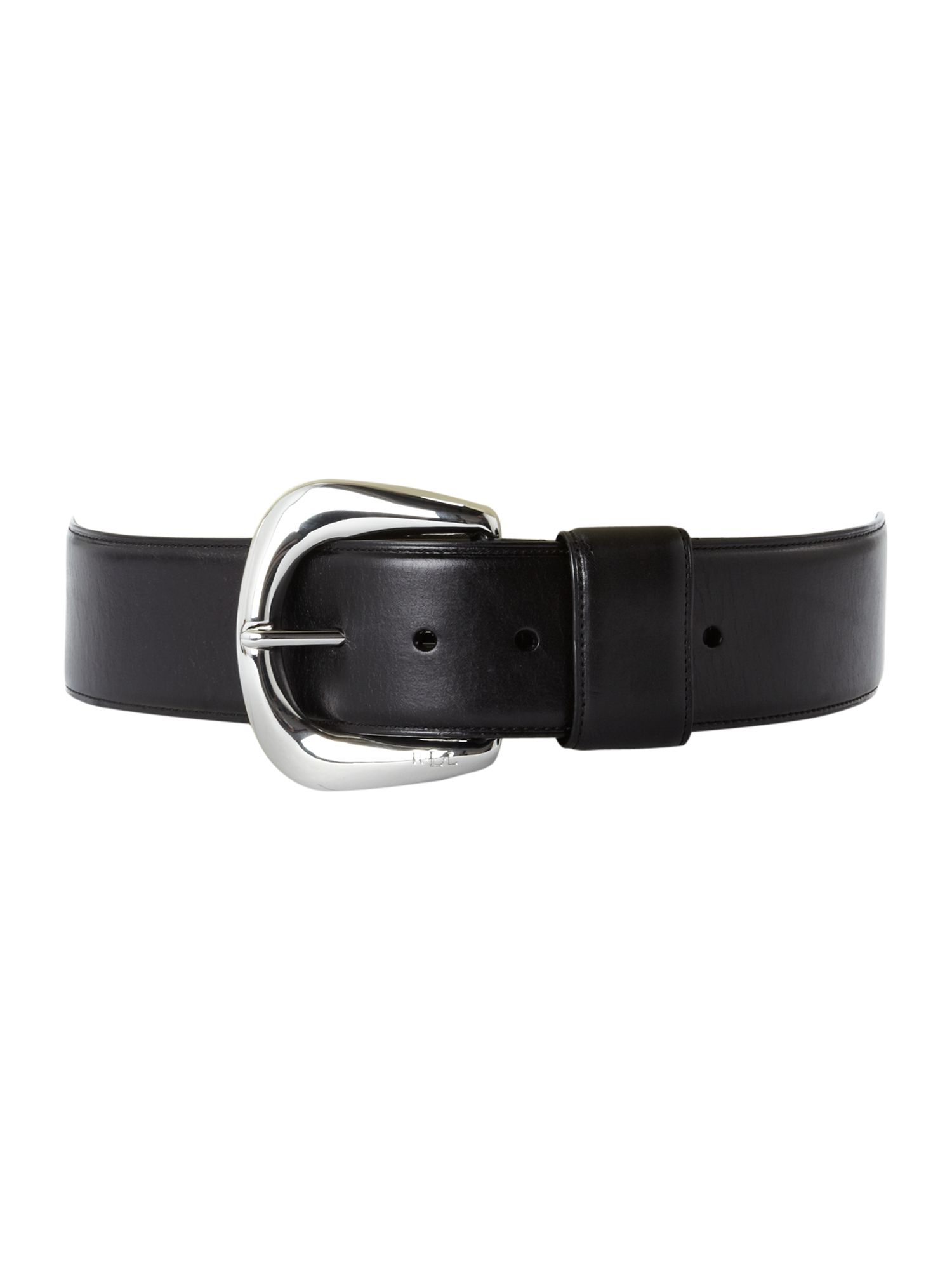 Vachetta belt with londonderry buckle