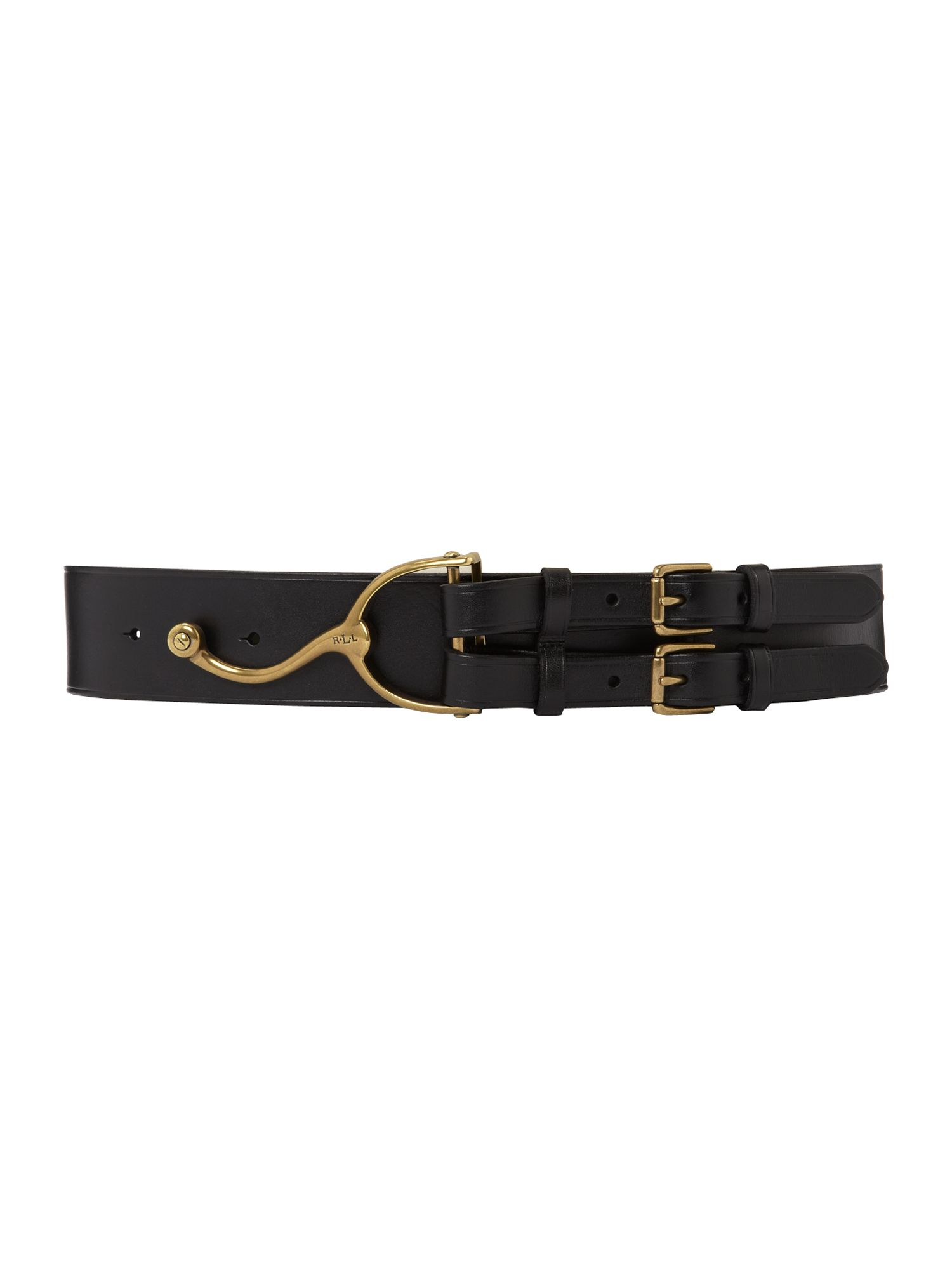 Vachetta belt with stirrup buckle