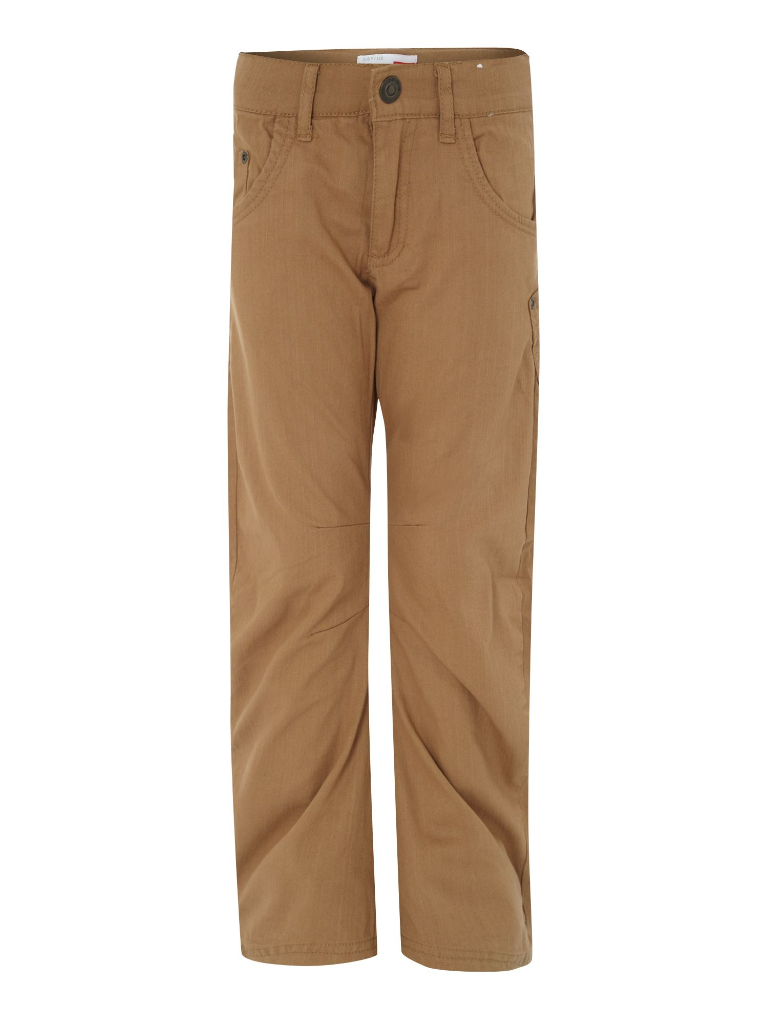 Boy`s twill trousers with pocket detail