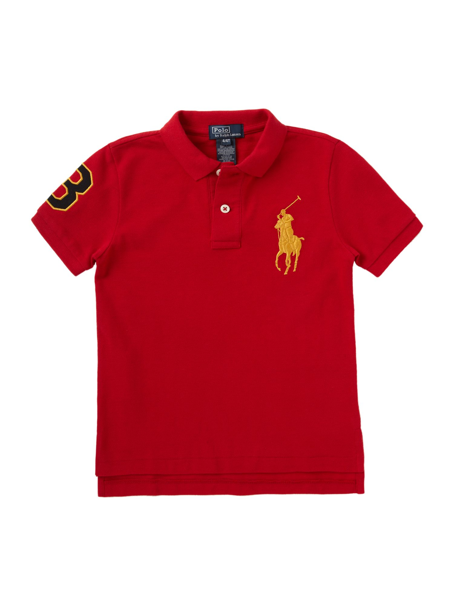 Gold pony polo shirt