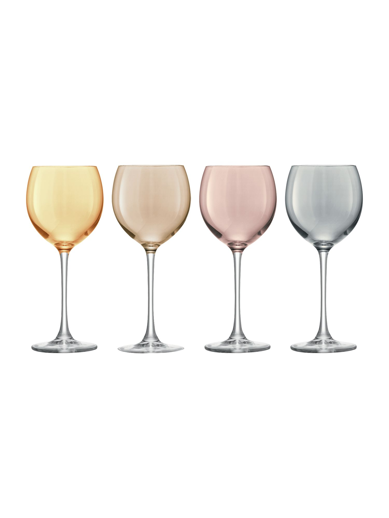 Polka wine glass set of 4
