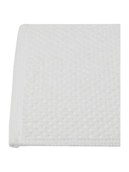 Linea Reversible Bobble Bath Mat in White