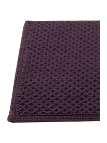 Linea Reversible Bobble Bath Mat in Aubergine