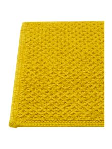 Cotton bobble reversible bathmat in chartreuse
