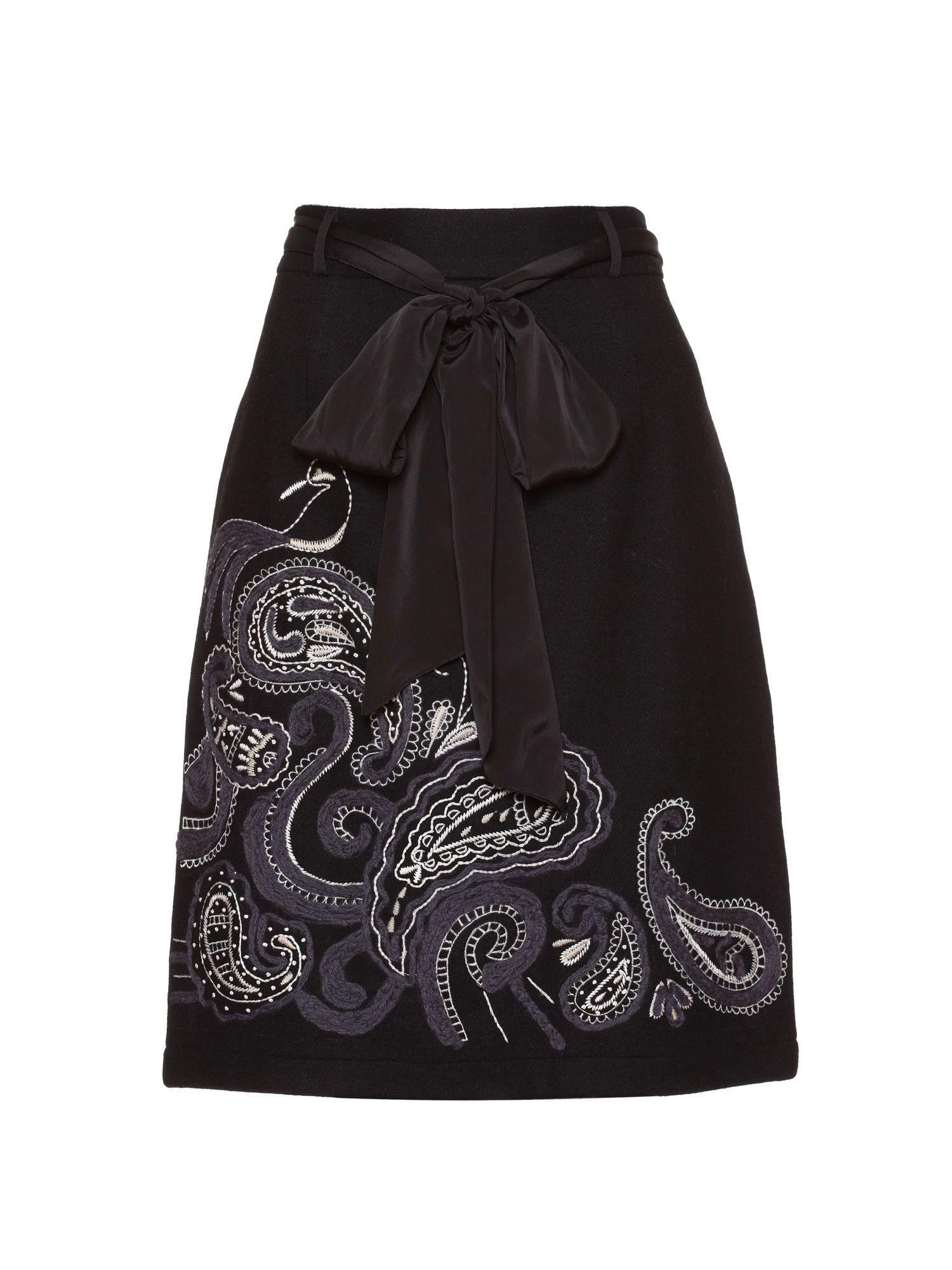 Paisley wool skirt.