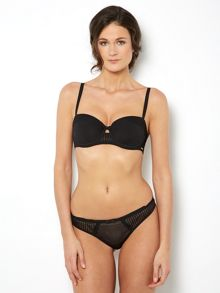 Untold Pleated mesh thong