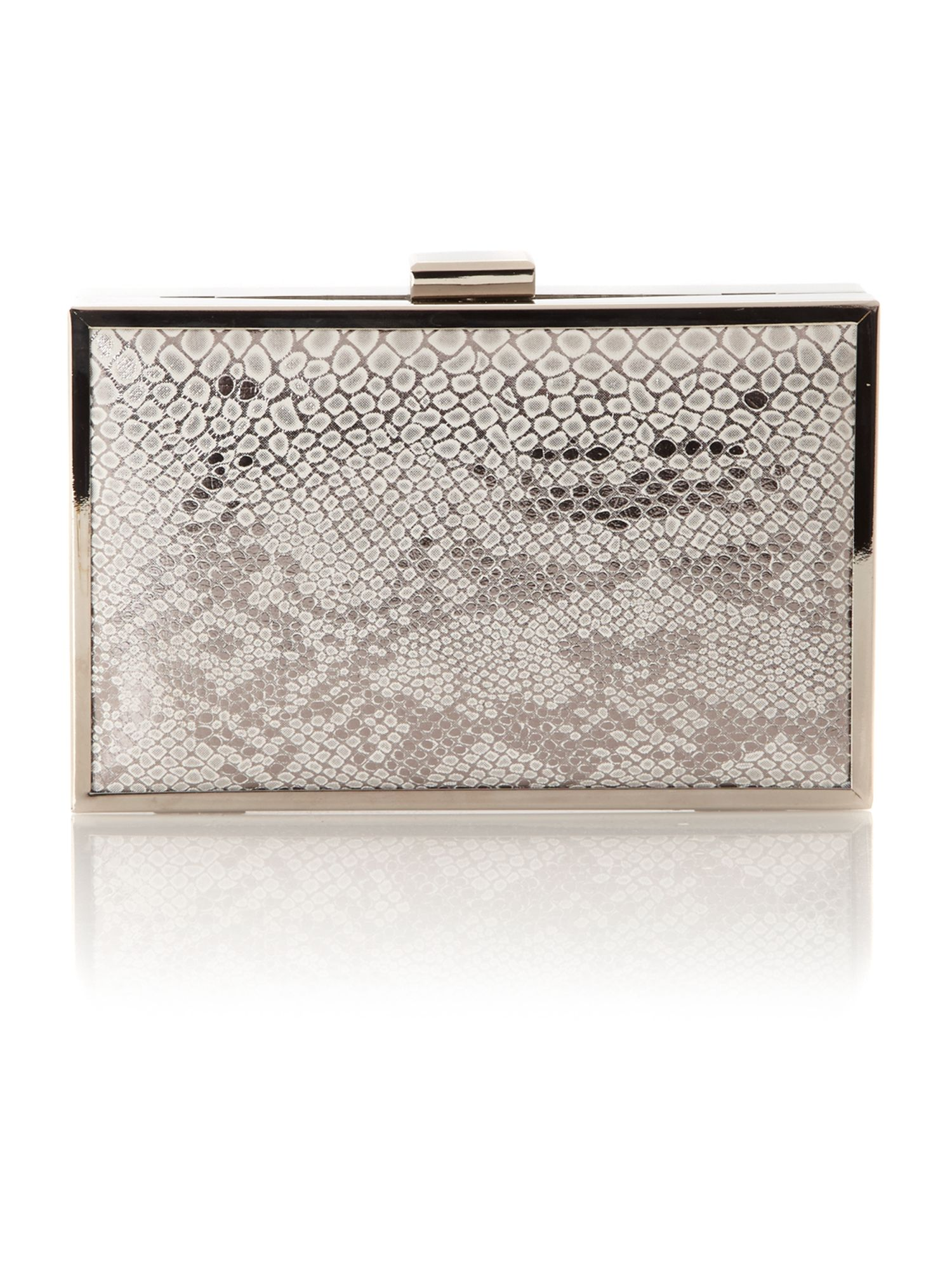 Snake Effect Box Clutch bag