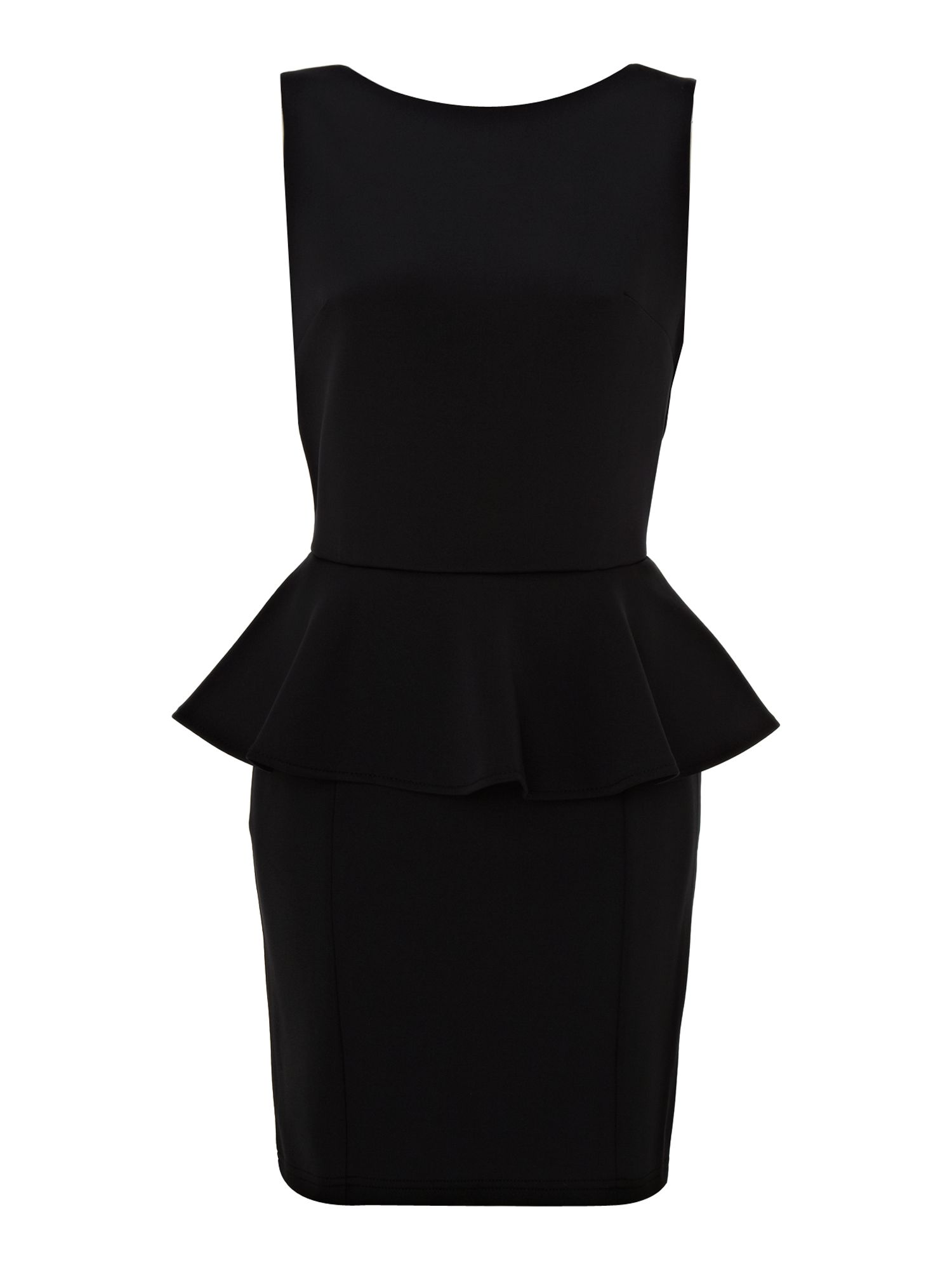 Peplum colour block dress