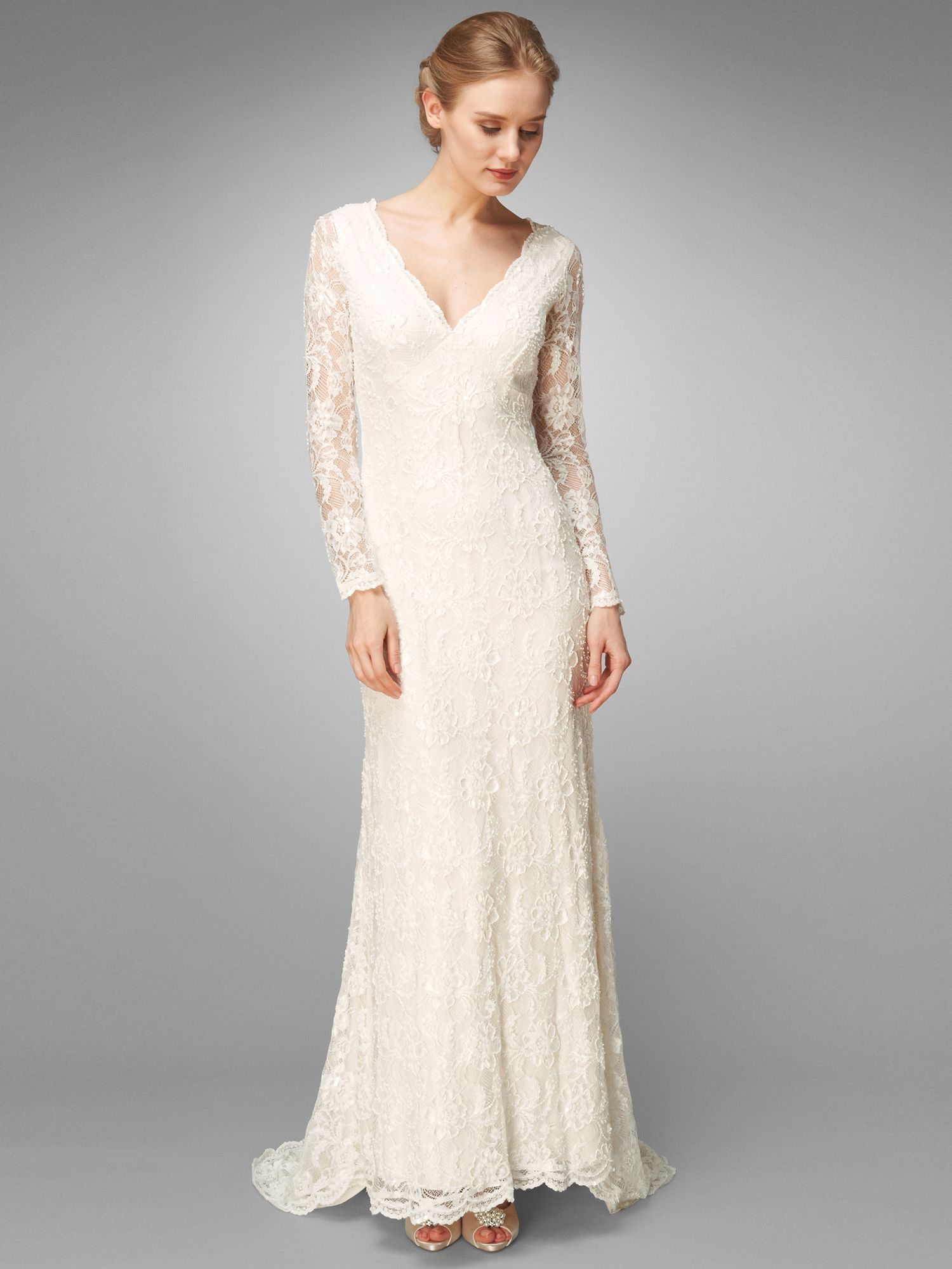 Evelyn lace beaded wedding dress