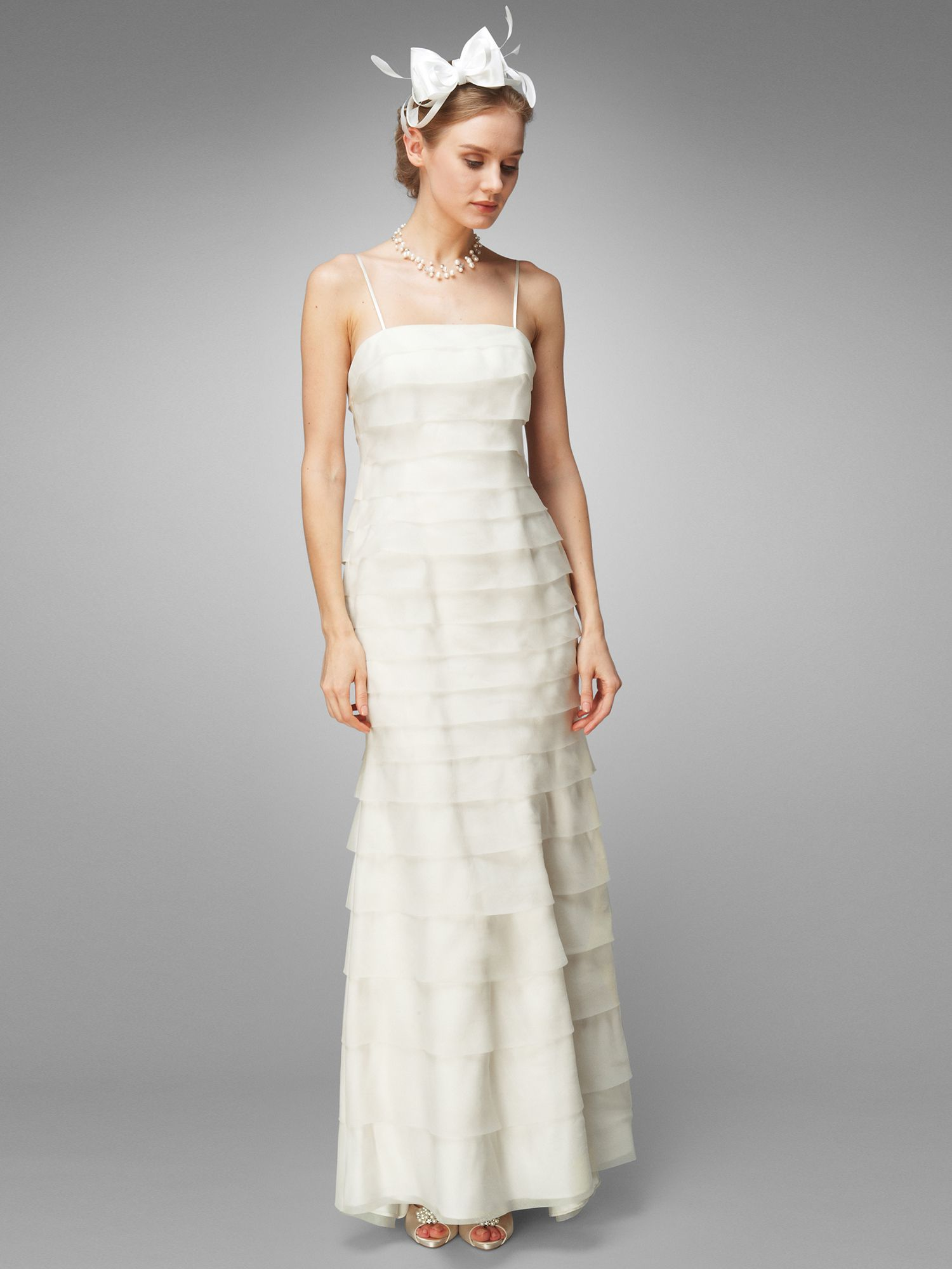 Alicia layered wedding dress