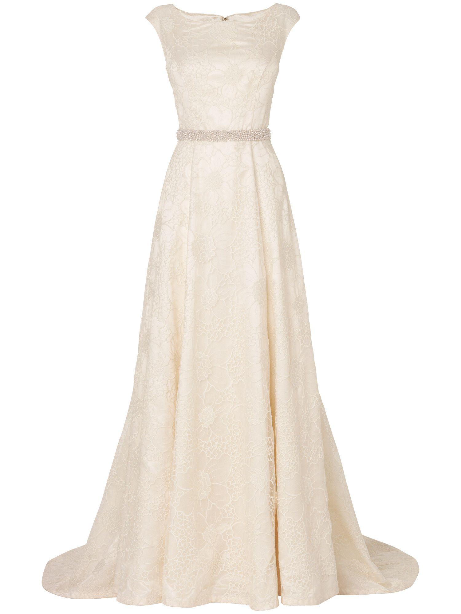 Women's Phase Eight Flora embroidered wedding dress, Cream