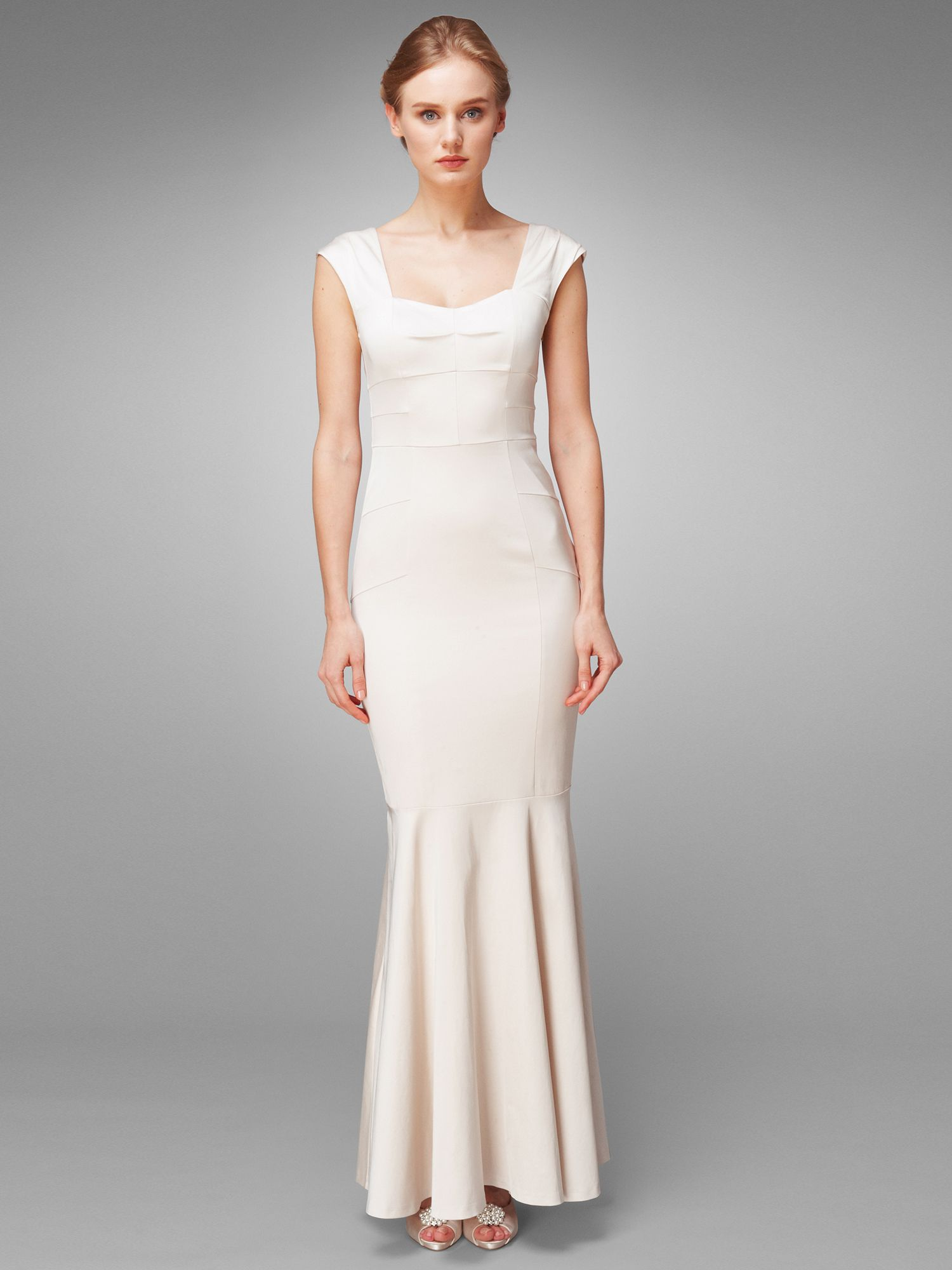 Nicole structured wedding dress