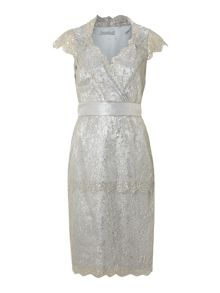 Shubette Metallic lace dress