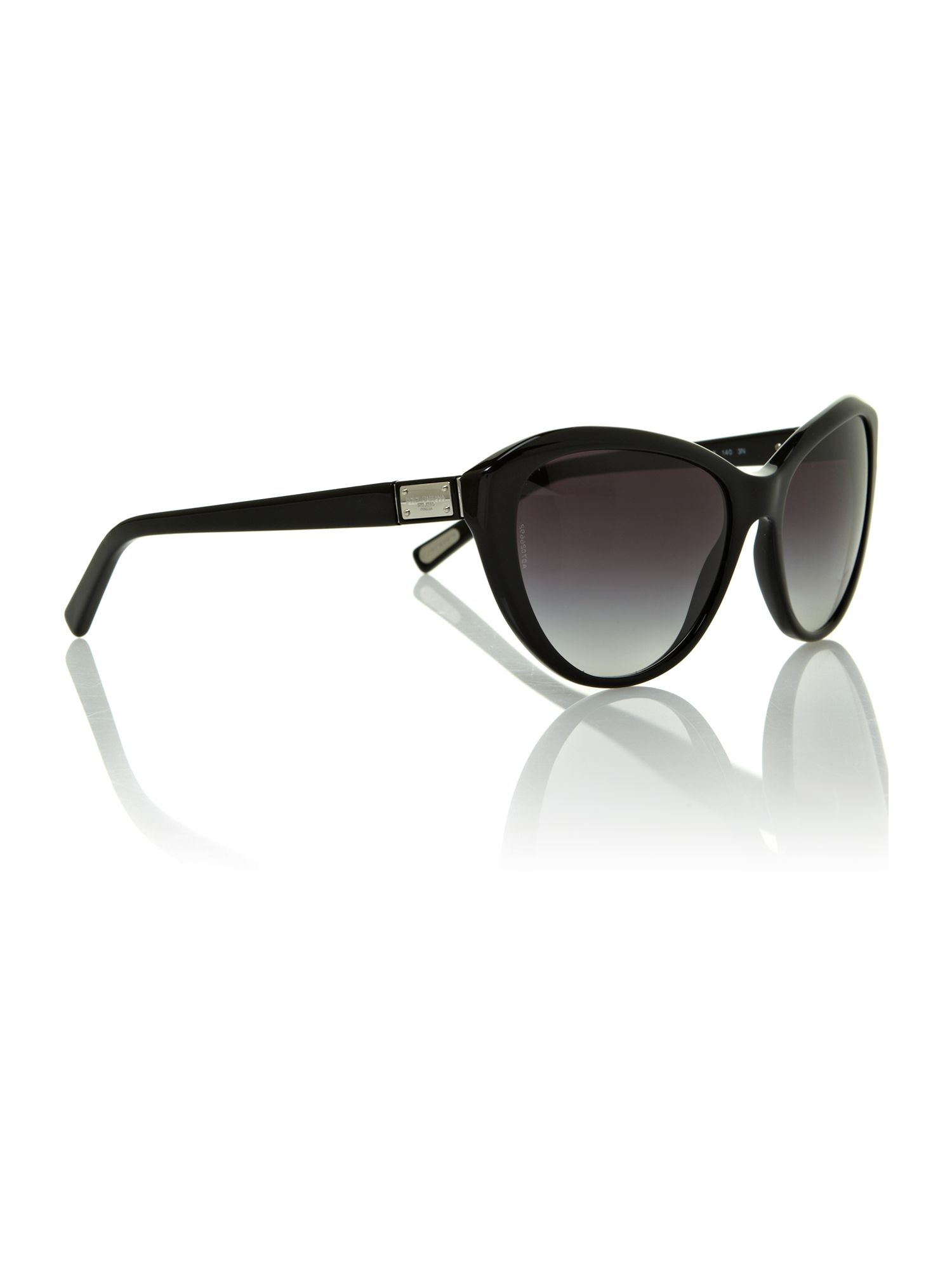 Ladies DG4141 Logo Shiny Black Sunglasses