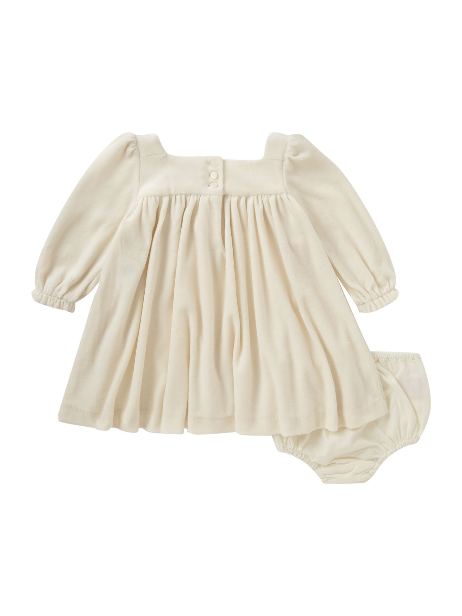 Girl`s velour smock dress