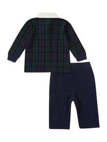 Boy`s tartan polo & sweat pant set