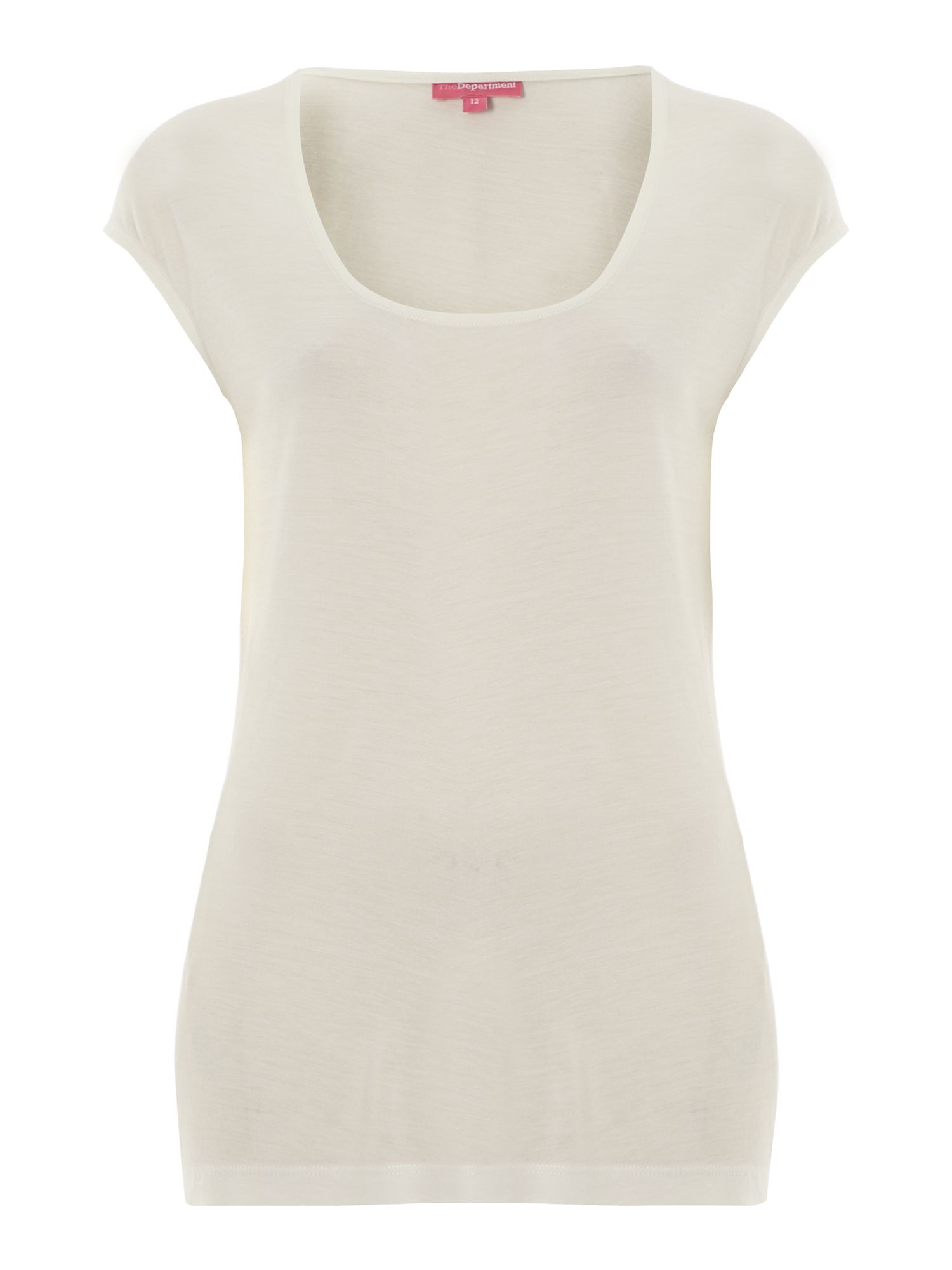 Cap square neck jersey top