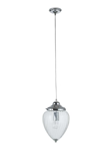 Linea Orb clear ribbed glass lantern