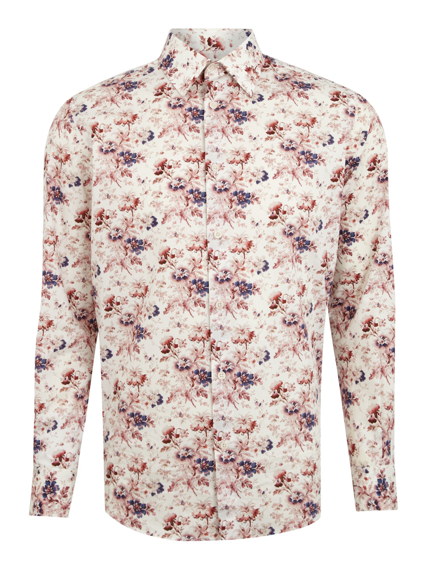 Floral print Italian cotton shirt