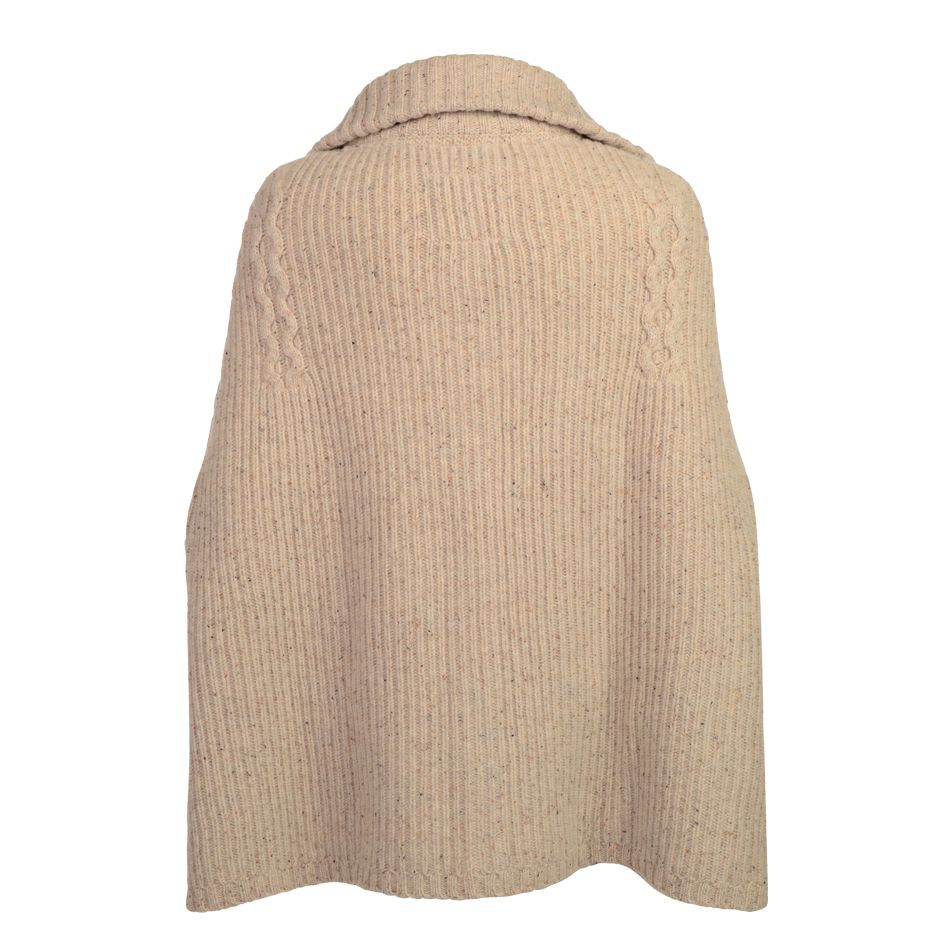 Eilis chunky cable cape knit