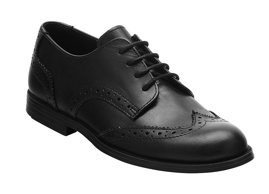 Girls leather burford school shoes F fit