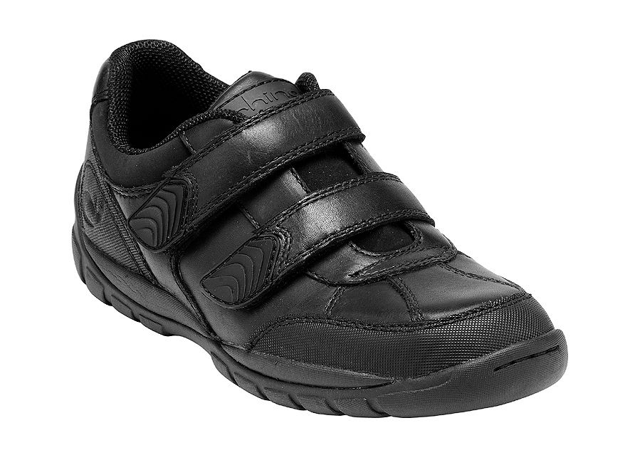 Boy`s crater black school shoes