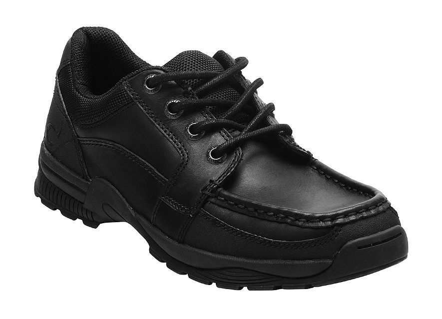 Boy`s dylan black school shoes