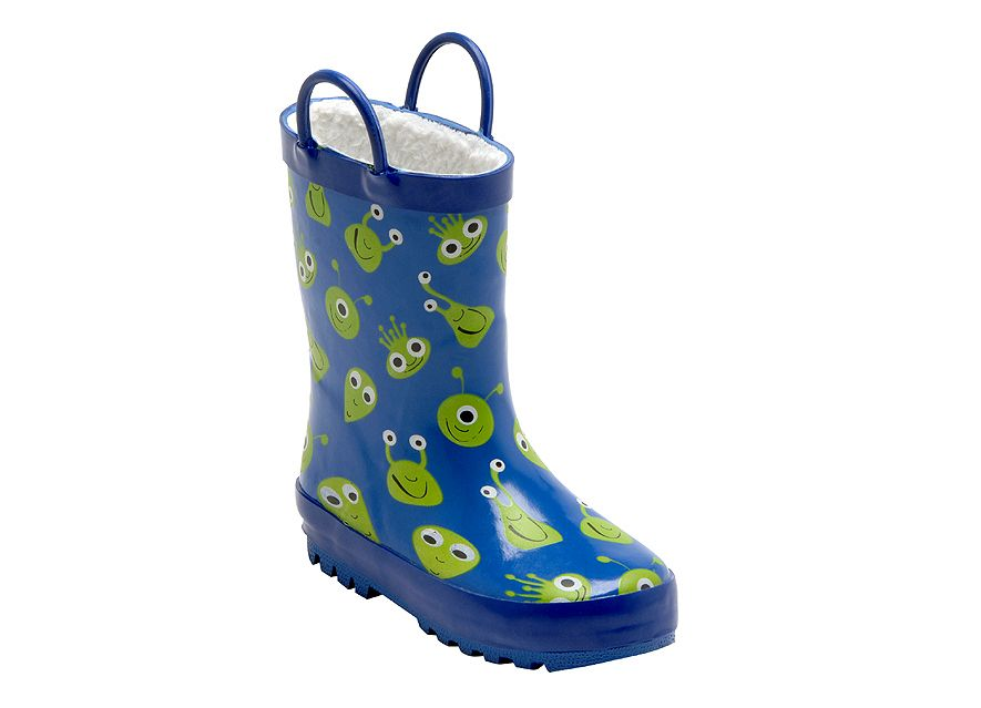 Boy`s space glow blue wellies