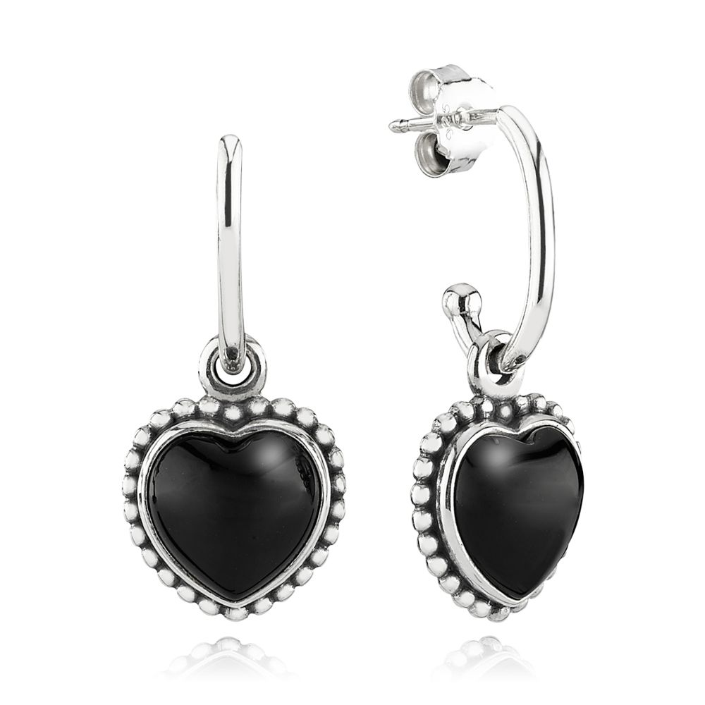 Statement Heart Pendant Earrings