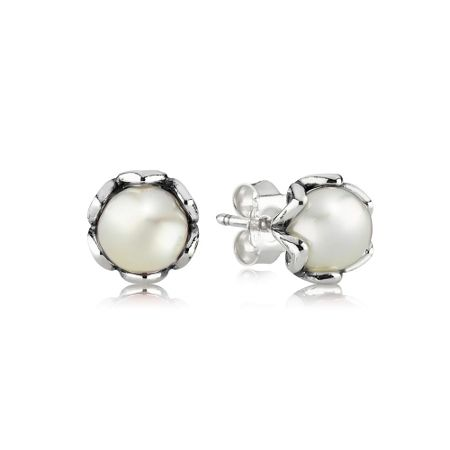 Pandora Grand Pearl Stud Earrings