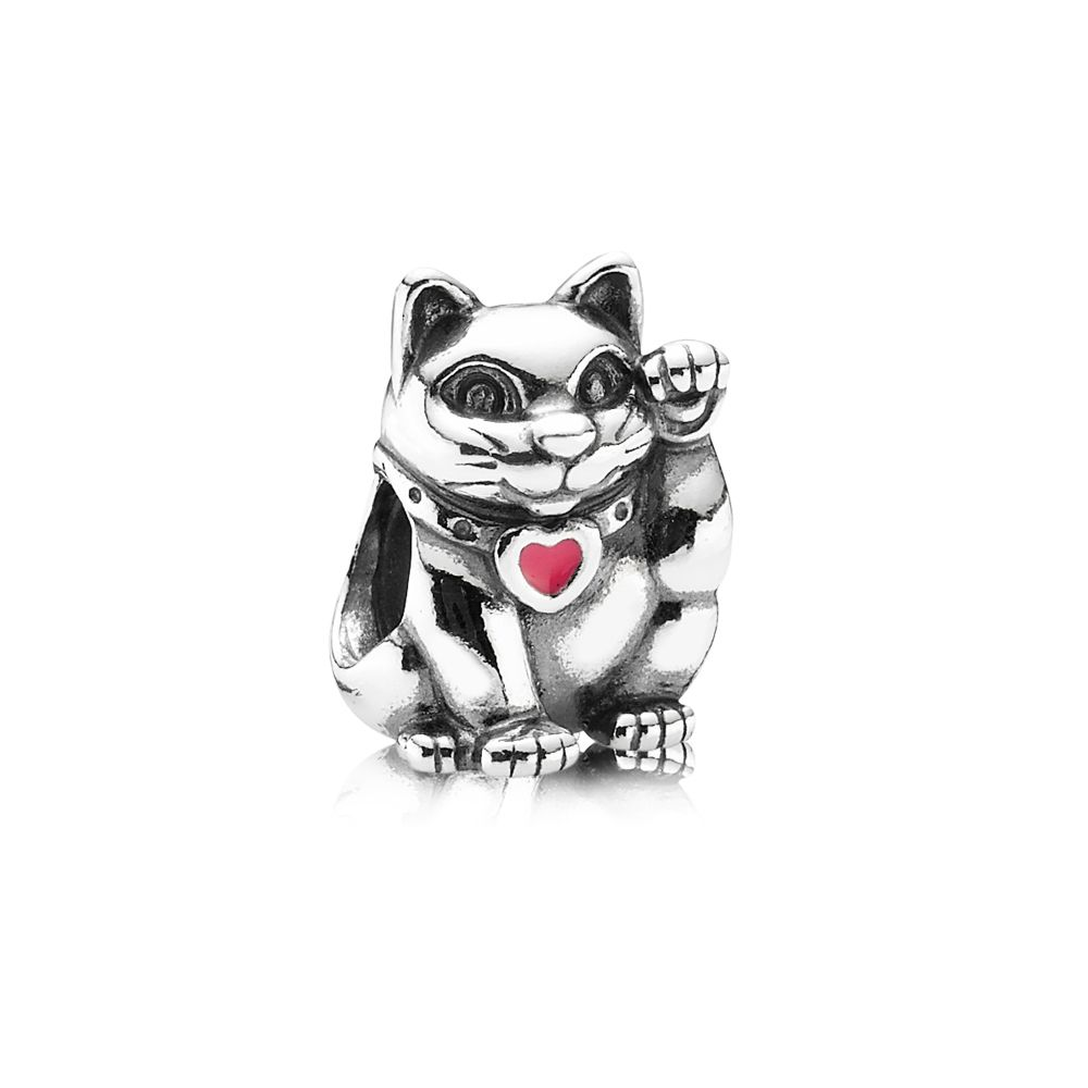 Pandora Waving Cat Charm