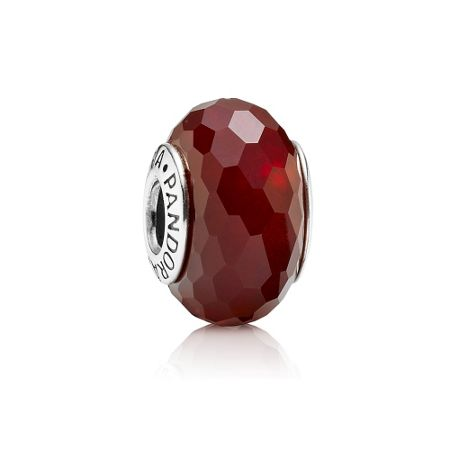 Pandora Red Faceted Murano Charm