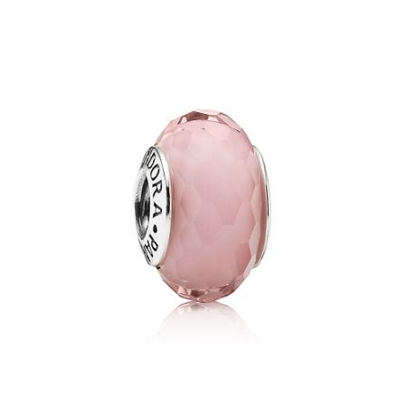 Pink Faceted Murano Charm