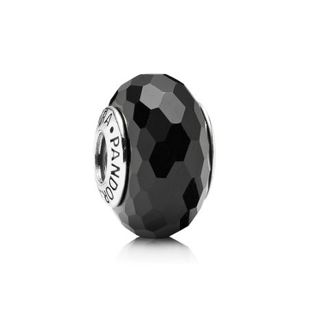 Pandora Black Faceted Murano Charm
