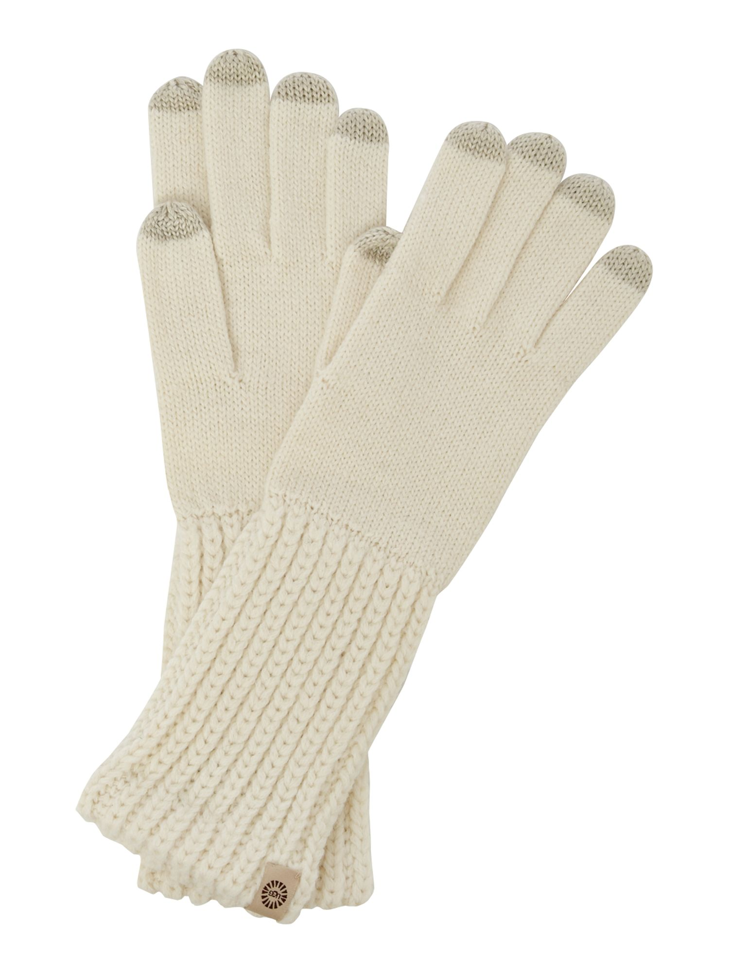 Gloves with touch sensitive fingertips - medium
