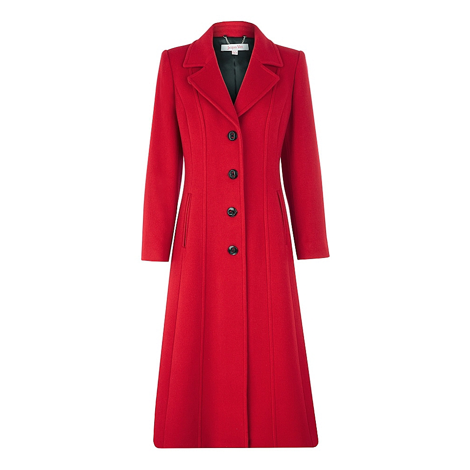 Jacques Vert Long red coat Red