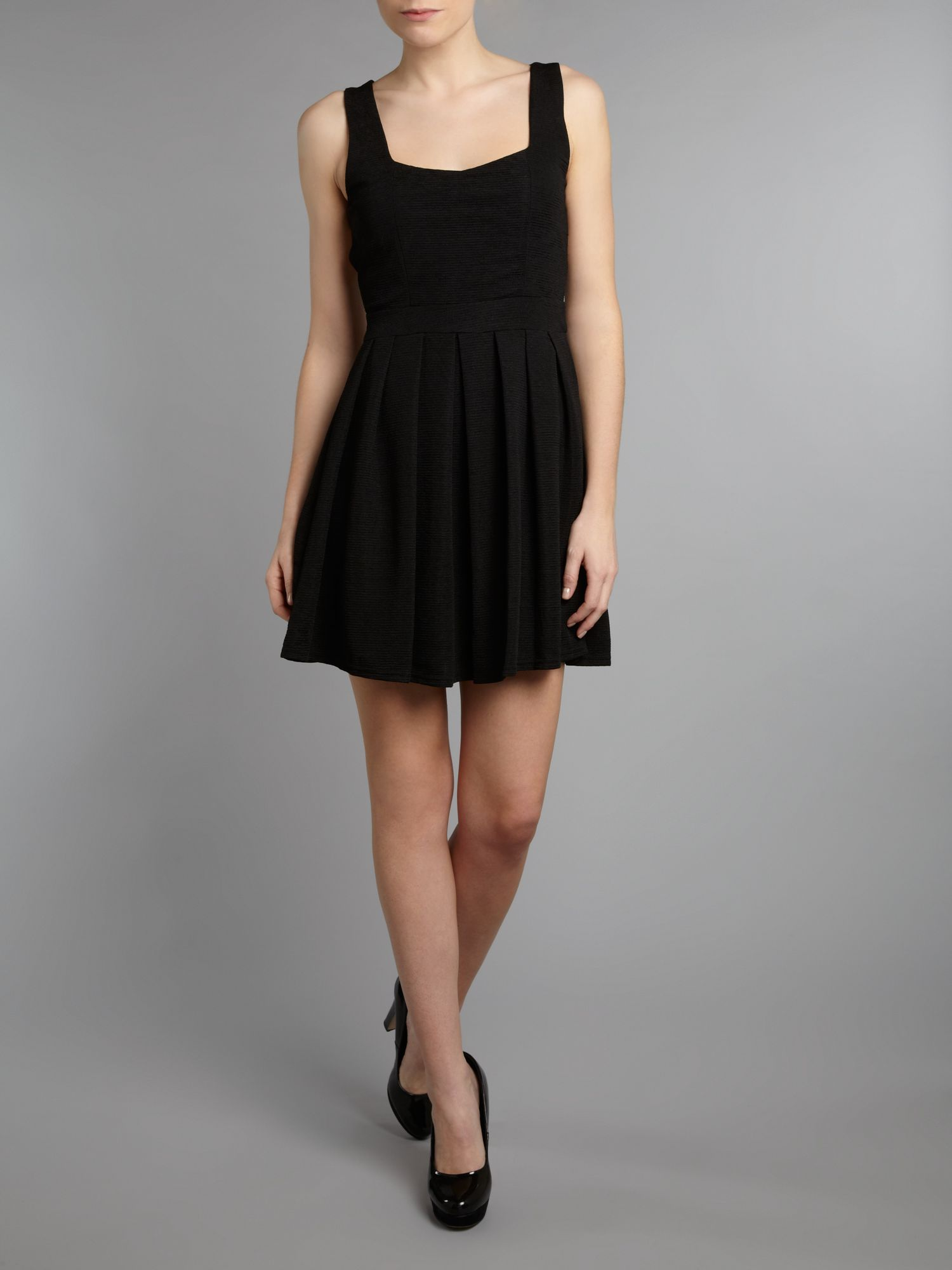 Pinafore top skater dress