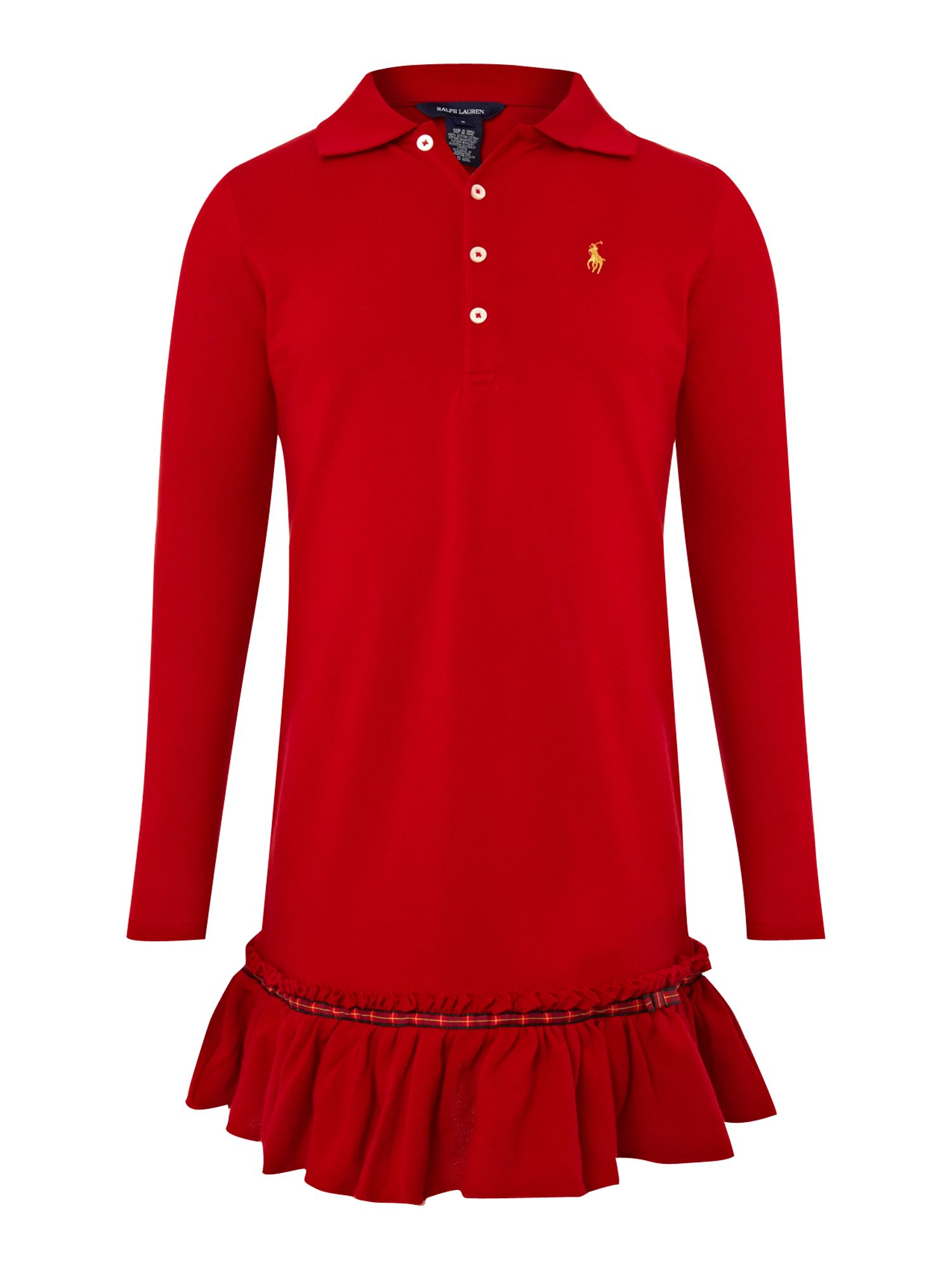 Girl`s frill polo dress