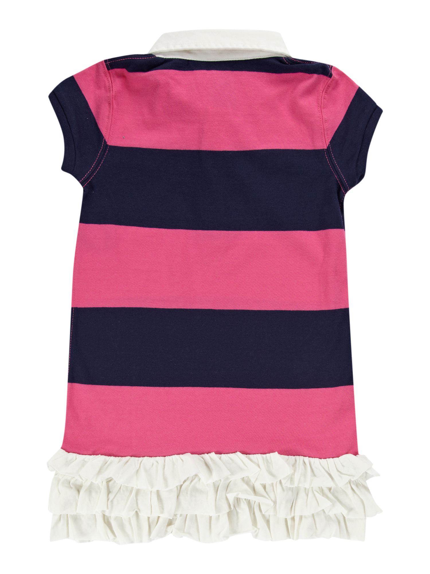 Girl`s block stripe rugby dress