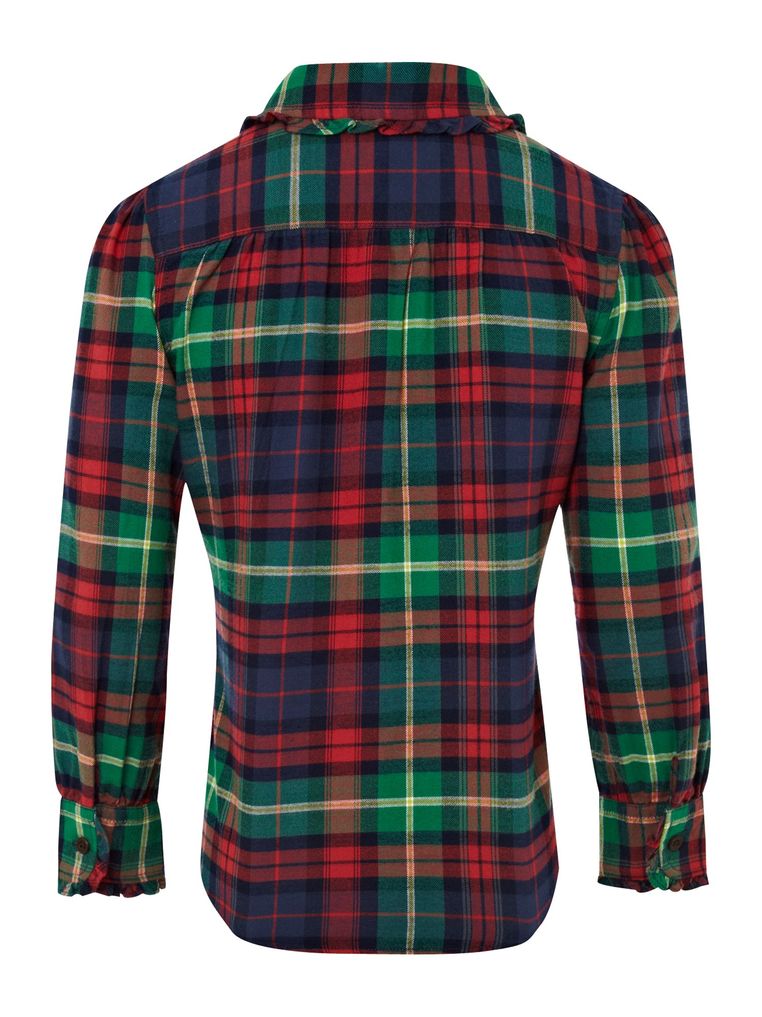Girl`s tartan checked blouse