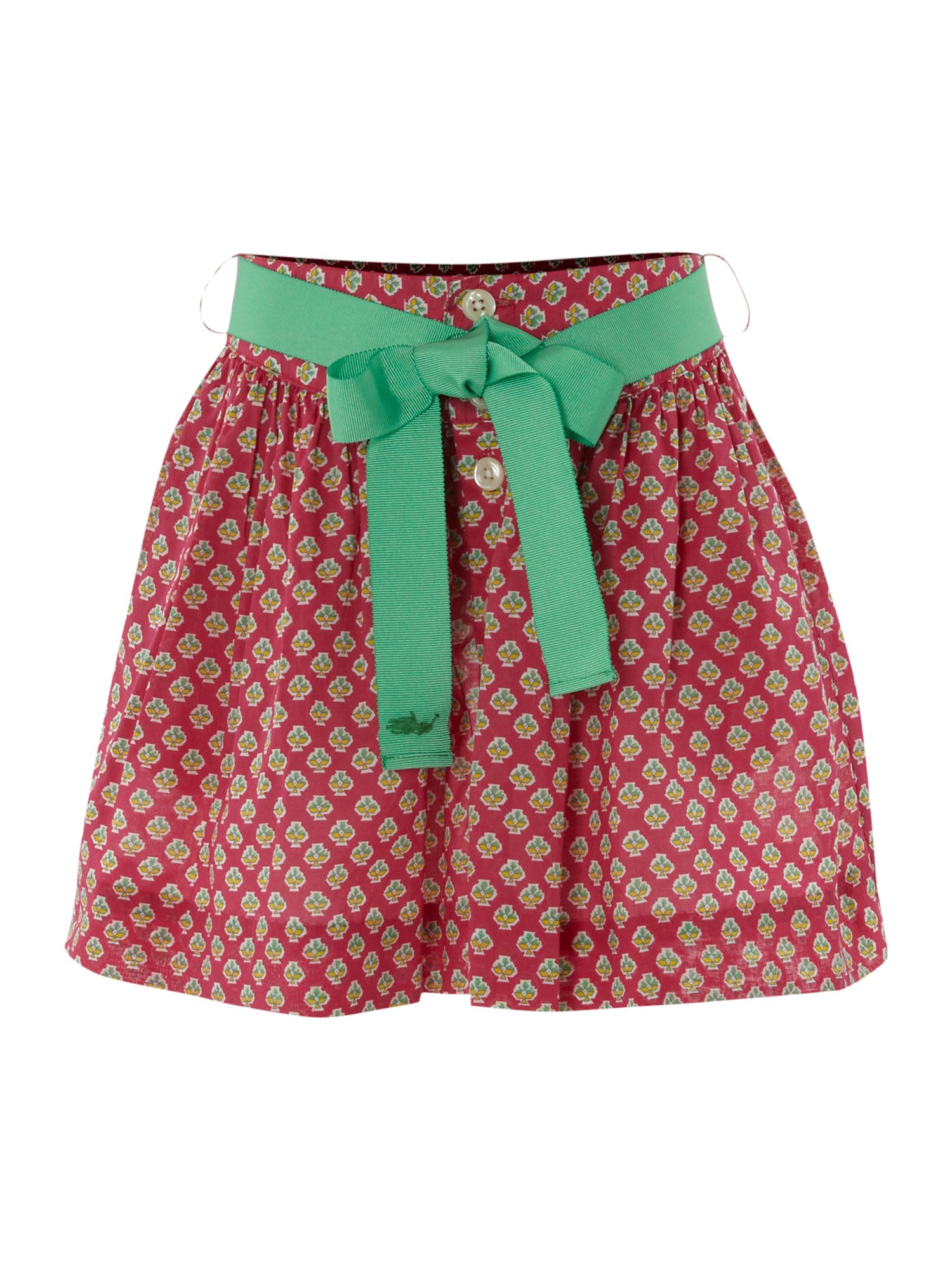 Girl`s printed button down ra ra skirt