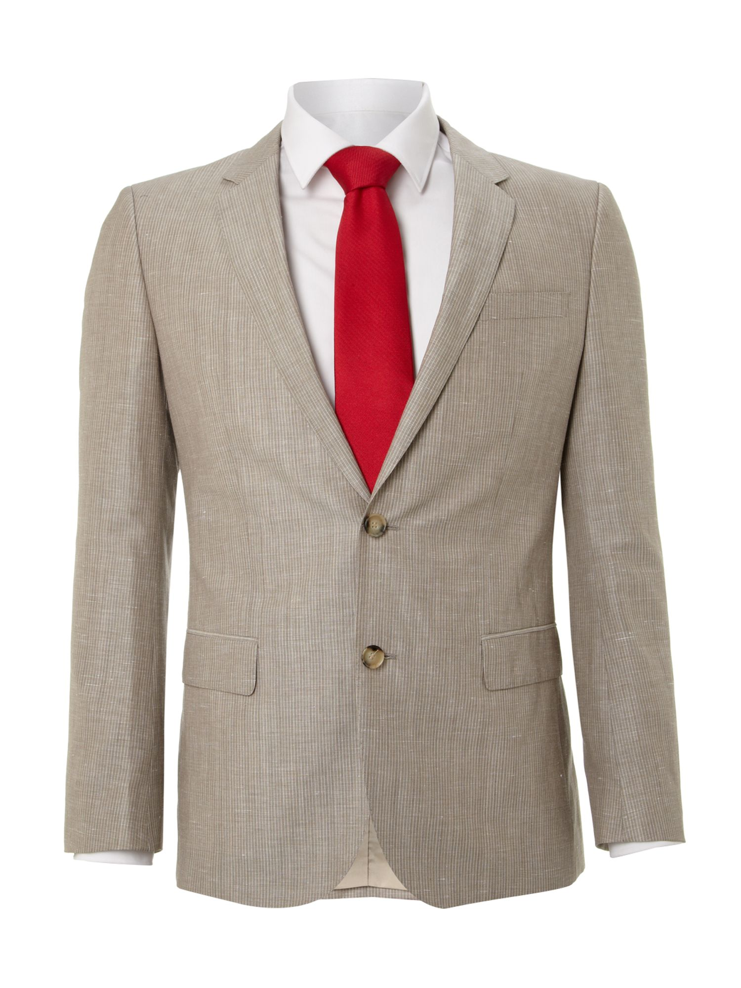 Hedge gense linen stripe slim fit suit