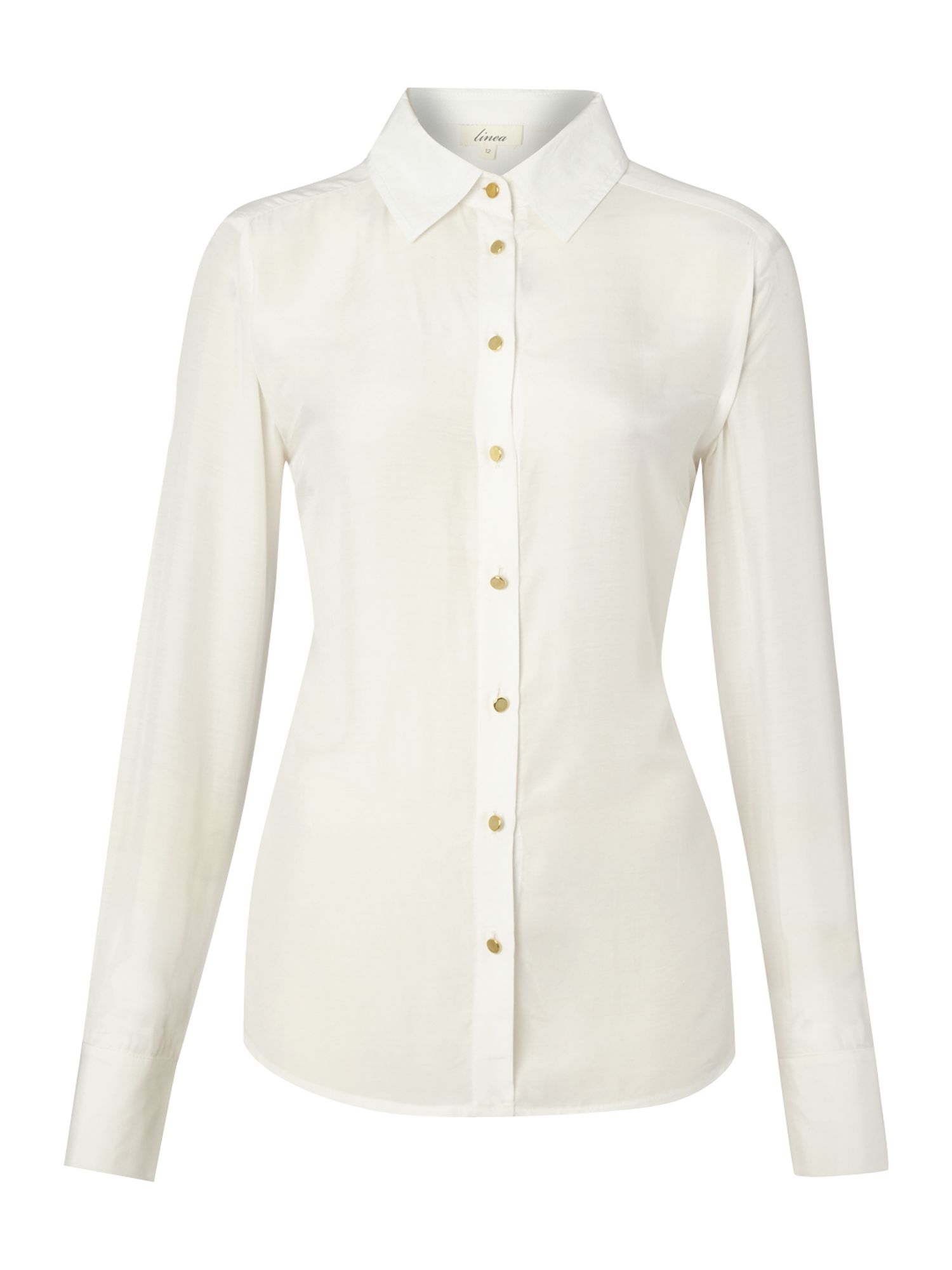 Gold button detail soft shirt