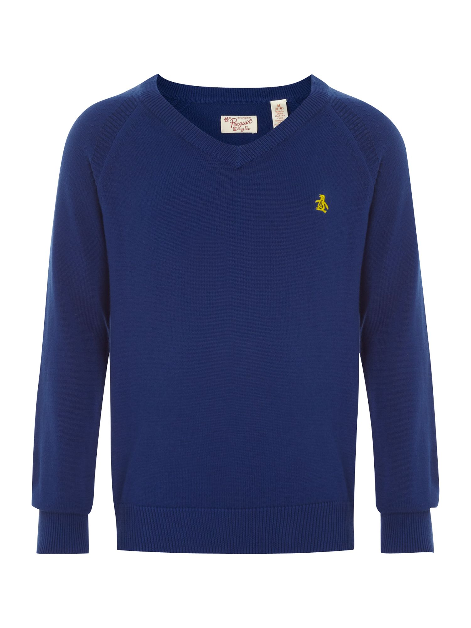 Boy`s logo v-neck jumper